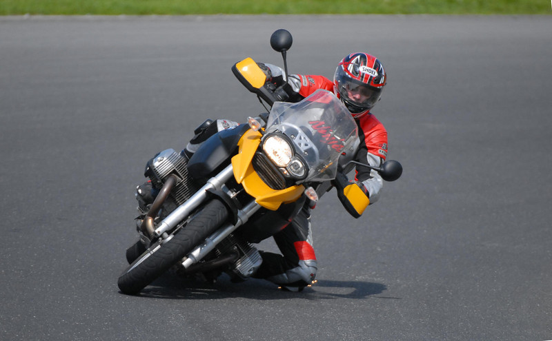 R1200GS knee down shot - Mondello park BMW track day, Michelin pilot road tyres! You can do this all day on a GS. Great track bike. By Patrick (Galway, Ireland)