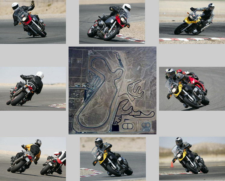 Marc Parnes and friend Gary take their R1200GS bikes on a Class track day at Willow Springs, May 24 2007