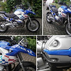 Collage I put together of images of an R1200GS F650GS Dakar look alike for sale on eBay (Germany)
