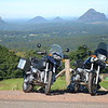 Picture of our bikes at Mary Cairncross looking towards the Glasshouse Mountains, near Maleny in South East Queensland, Australia.<br /> Alastair M