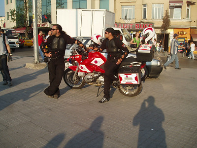 Emergency services / Paramedics / EWS / Doctors - Taksim Square in Istanbul, Turkey