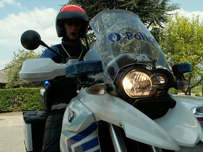 Harald on his Belgiun Police BMW R1200GS