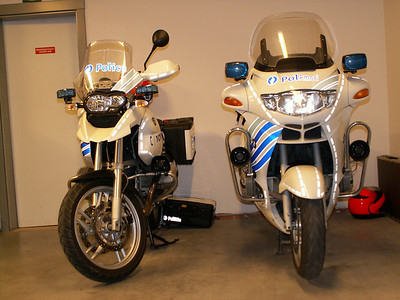 The new Belgium Police R1200GS with the existing R1150RT