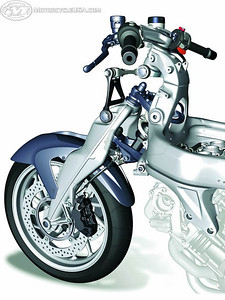 BMW K1200S Duolever front suspension.............weird!