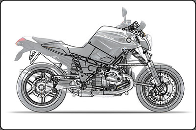 BMW motorcycle prototype - D1200R / R1200R overlay Go to: http://www.dechavesgarage.com/projects/