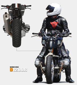 BMW motorcycle prototype - D1200R based on a BMW R1200R Go to: http://www.dechavesgarage.com/projects/