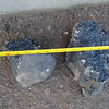 ....and some of the debris / lumps of road surface from the pothole