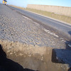 ....and the culprit. Pothole seems an understatement!