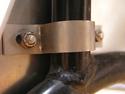 Closeup of left SkidPlate clamp