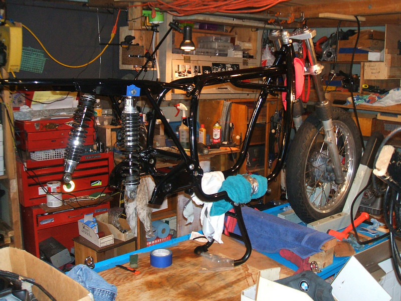 Front Wheel and rear shocks now in place