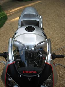 Billet fuel cap replaced the leaky Honda cap.