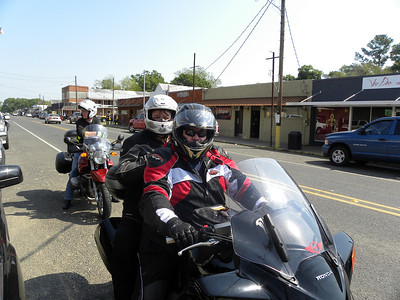 Vern and Shelly on their Honda ST1300 in Mamou, LA!