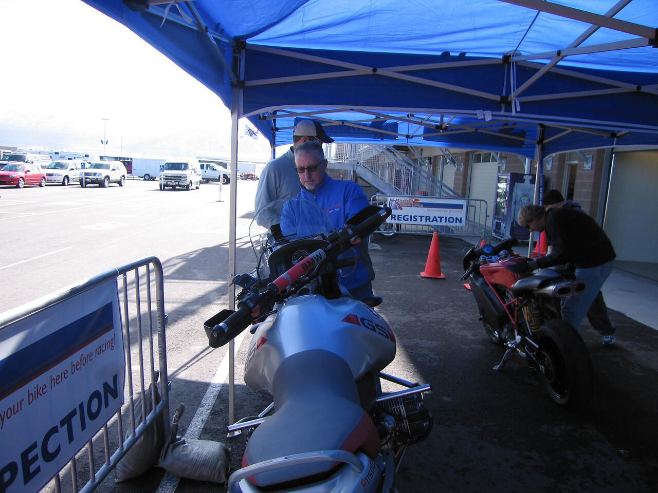 Scott's bike gets the approval sticker
