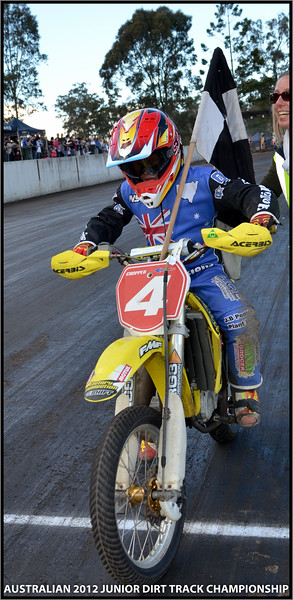 2012 Australian Junior Dirt Track Championship --SUNDAY and FINALS