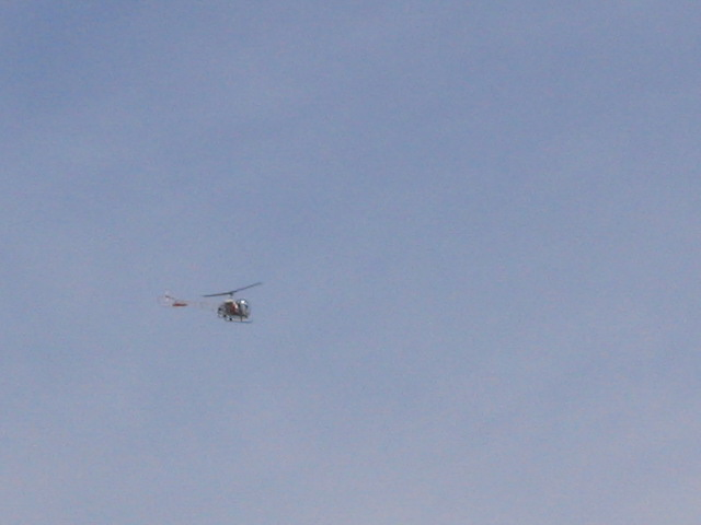 Someone in a helicoptor getting high