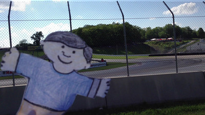 Stanley enjoying the racing in T5