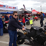 Erik Buell with the Erik Buell Racing bike in street trim. This guy is a legend.