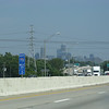 Downtown Indianapolis from I-70