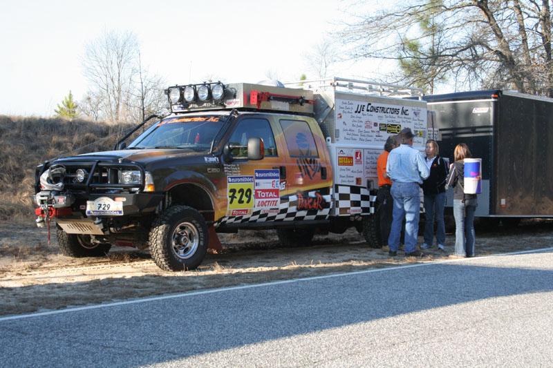 Dakar service vehicle