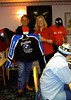 """Bob Smith won this auctioned jacket.  Note """"Mr. Voni"""" in the background."""