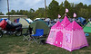 Elizabeh Clark put her Hello Kitty princess tent next to mine.