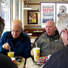 Lunch at Wendy's in Marion, IL.  Dave Mattis, George, Jim, Al.