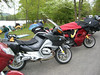 The bikes in camp in Hiawassee, GA.  Photo by Al.