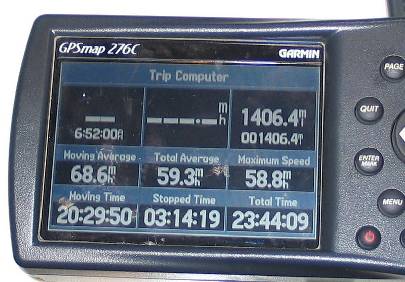 The end of my 2005 LOE.  1406 miles, I left almost 16 minutes on the table.