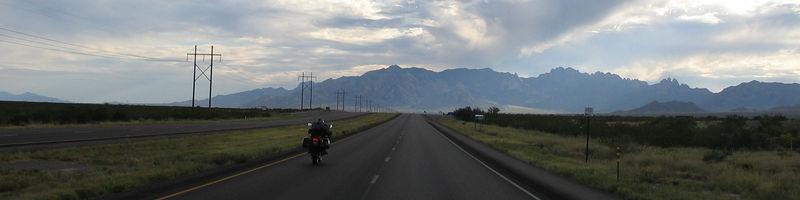 Sanchez heading west towards Las Cruces near White Sands.