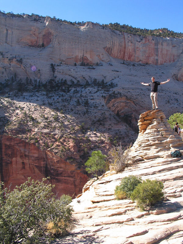 Dizave at the highest point on Angel's Landing.