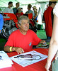 The line was very long for Agostini's autograph.