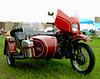 This is a late model Ural sidecar rig, one of two on the grounds.