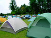 """The camping area was about the square footage of a football field.  There was additional """"primitive camping"""" in the woods behind."""
