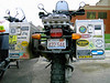 Lots of stickers on a GS. It seems that if you have aluminum bags, you must cover them with stickers.  It makes for good reading...