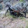 The R.I.P. Bike, somewhere near Vantage, WA -- back in the hills. I have the waypoint ;)