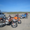 All the bikes ready for the days rally nav training.