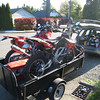 In Seattle, ready to head off for a weekend of Rally Navigation Training with Jonah Street near Ellensburg, WA. We load up our bikes, Bill Wood's Honda CRF450 Dakar Rallypanam prepped machine, and my barely rally prepped Aprilia RXV550.