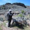 Bill Woods poses. Bill rode like a wildman on his CRF450S Dakar bike!
