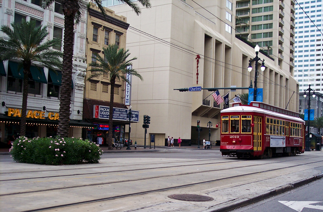 The best way to see old New Orleans. The cablecars travel Canal St and St Charles Ave.