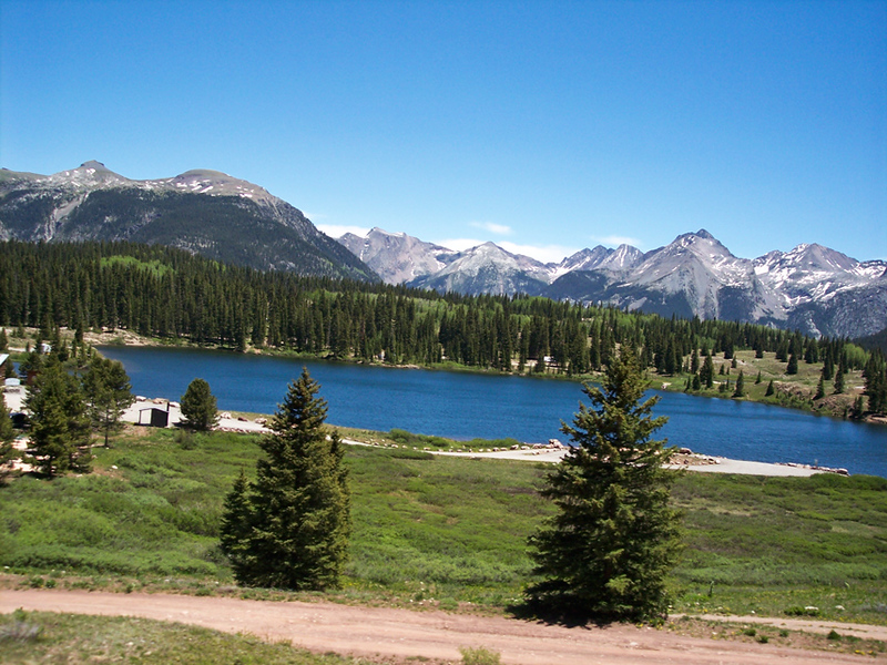 A high mountain lake in New Mexico.