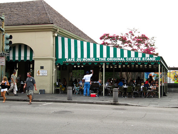 "Cafe Du Monde is a New Orleans icon. ""Coffee and beignets please."""
