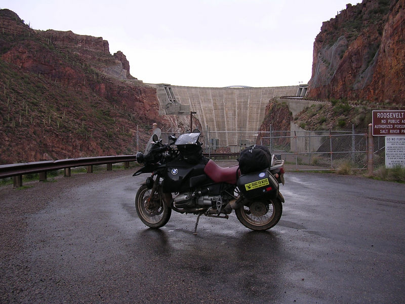 Roosevelt Dam, at the east end of the Apache Trail.