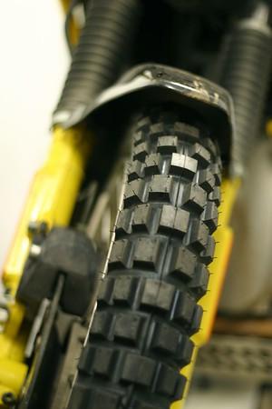 Brand new Continental TKC80 tires on a BMW R100GS