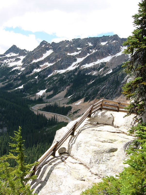 Looking down from Washington Pass viewpoint.