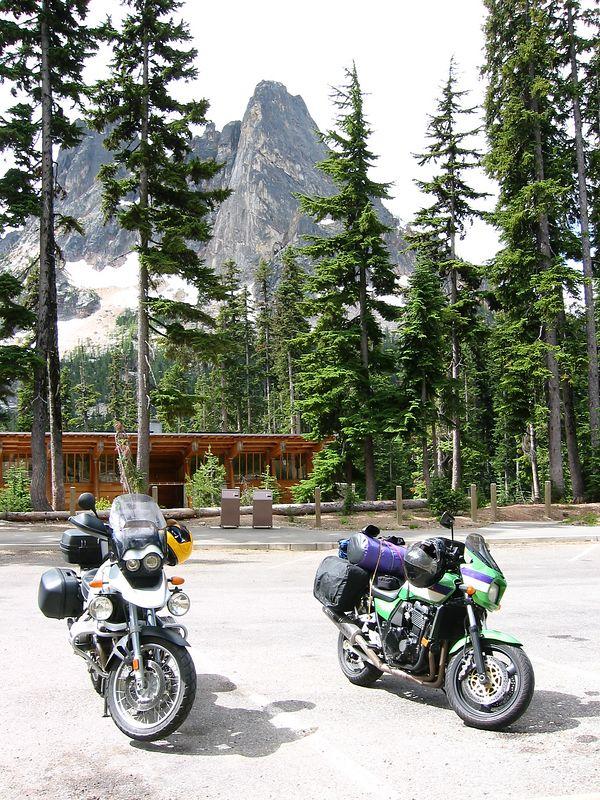 Viewpoint parking at Washington Pass--North Cascades Hwy.