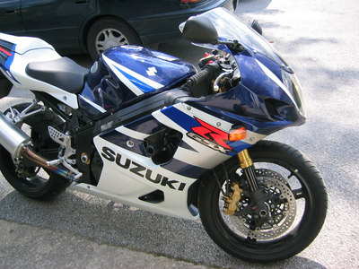 My 2003 Gsxr1000 all fixed up in blue this time