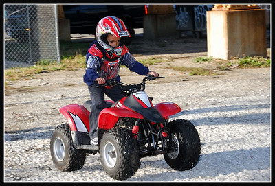 LJ Rocks out on his quad