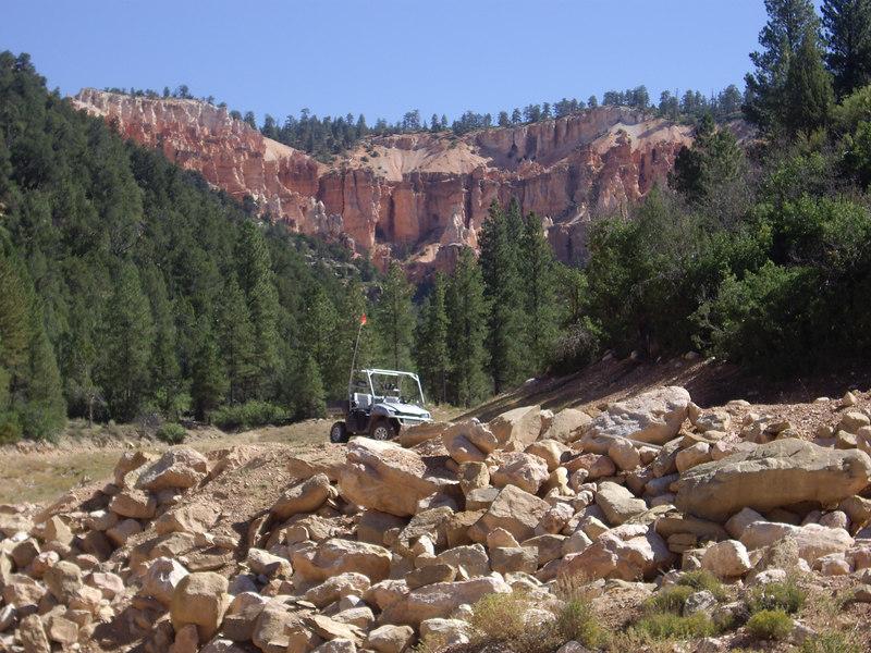 near the trail head by Main Canyon