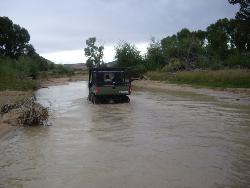 Having fun in the Sevier River near Panguitch