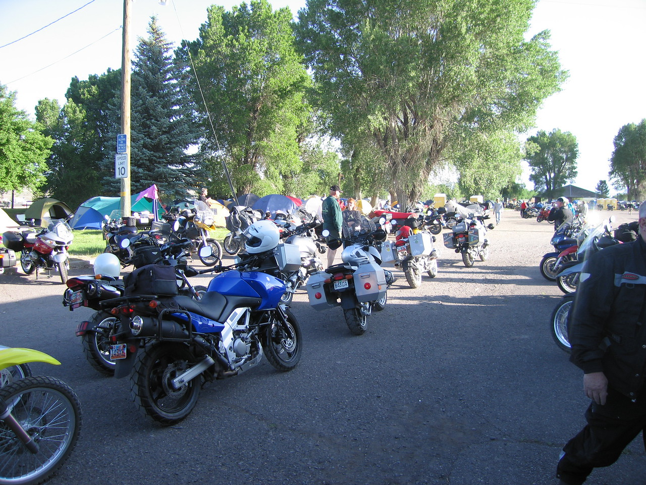Dual sport bikes line up